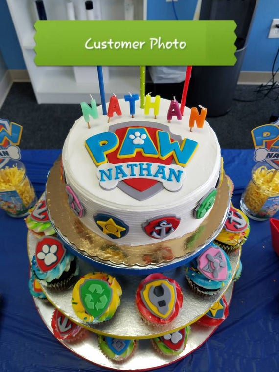 Remarkable Paw Patrol Fondant Etsy Funny Birthday Cards Online Inifodamsfinfo