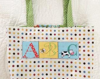 Sale! Child's Reversible Alphabet Tote Bag