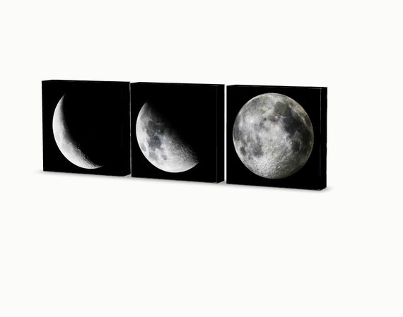 Custom Moon Phases Wall Hanging 3 Piece Set Ready To Hang Etsy
