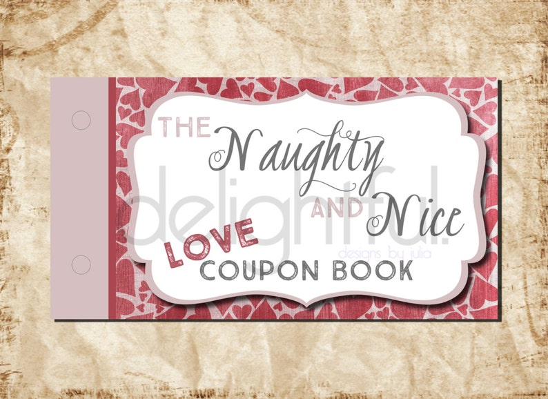 Birthday Anniversary Printable Christmas Gift Instant Download MATURE CONTENT The Naughty /& Nice Love Coupon Book  Valentine/'s