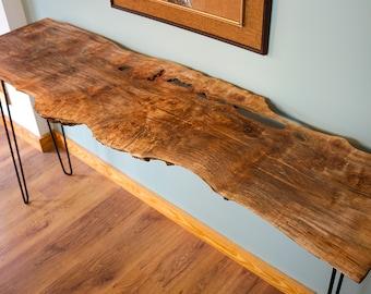 Live Edge Burled Ambrosia Maple, Wood End Table   CUSTOM ORDER   Modern Wood  Furniture, Unique Furniture, Wood Hall Table, Live Edge Table
