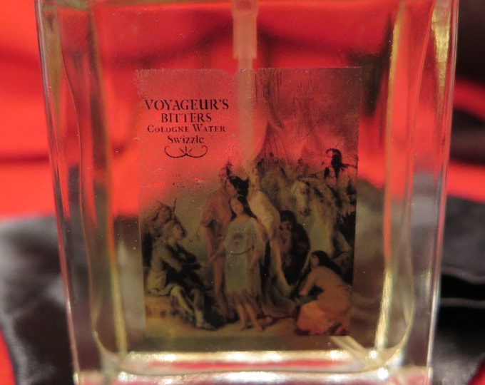 "New to Market"" - COLOGNE VOYAGEUR'S BITTERS Cologne Water Swizzle Italian Glass 3.4 oz Smells Clean fresh spicy a woodsy masculine scent"