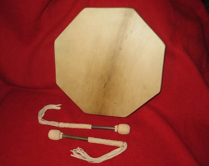 SALE- Native American Hand Drum 18 Inch or 16 inch Selected Elk Skin Rawhide 8 sided Sacred Cedar Wood Spiritual Ceremonial Shamic Healing