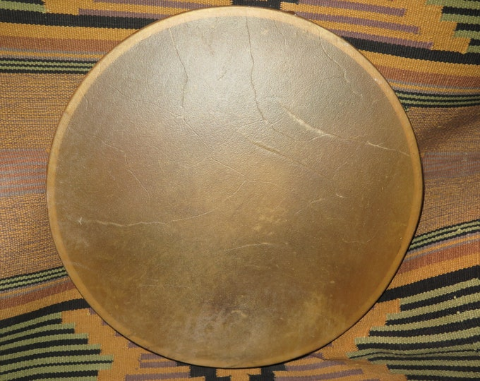 "Native American Buffalo Drum a Selected hide Thickness this 18"" Drum has Deep Awakening Powerful Superb Sound ""Shaman Drum"""