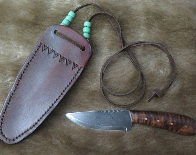 "Hand Forged Neck Trade Knife from HBC and North West Company Native American fur traders and French wore these the men called ""Voyageurs"""