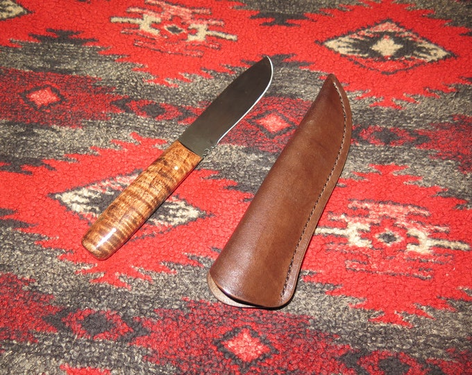 NATIVE AMERICAN Metis Hand Crafted Trade Knife with Sheath hand-forged from 1095 high-carbon steel hand made