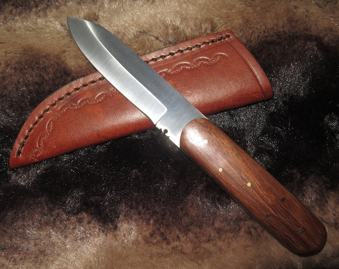 "New Item Sale -- Fur Trade 1800s Dadley""frontiersman Knife with Sheath and heavy 4-1/2""  blade"