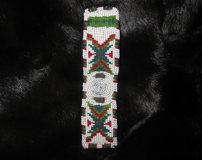Vintage  Native American beautiful beaded pattern design  Beaded Watch Band