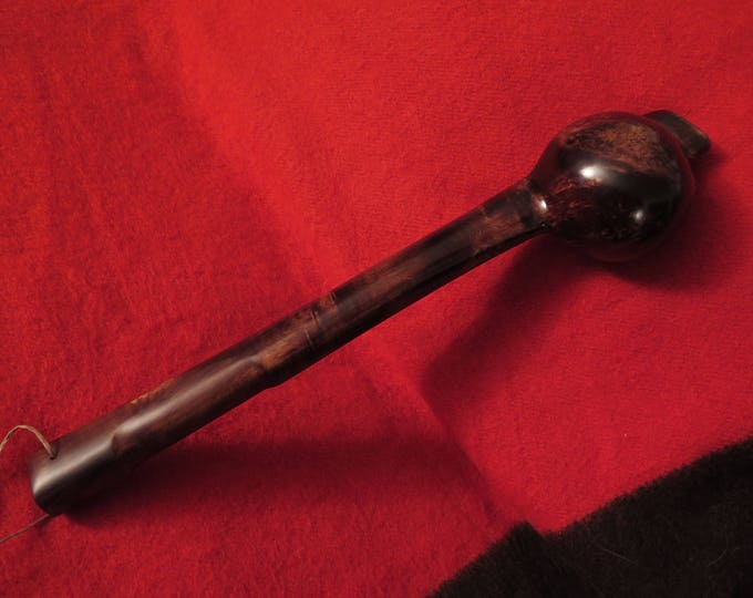 Native American handmade Historical Ball Head War Club Cayuga Massive Head w/Burl Wood Display Stand