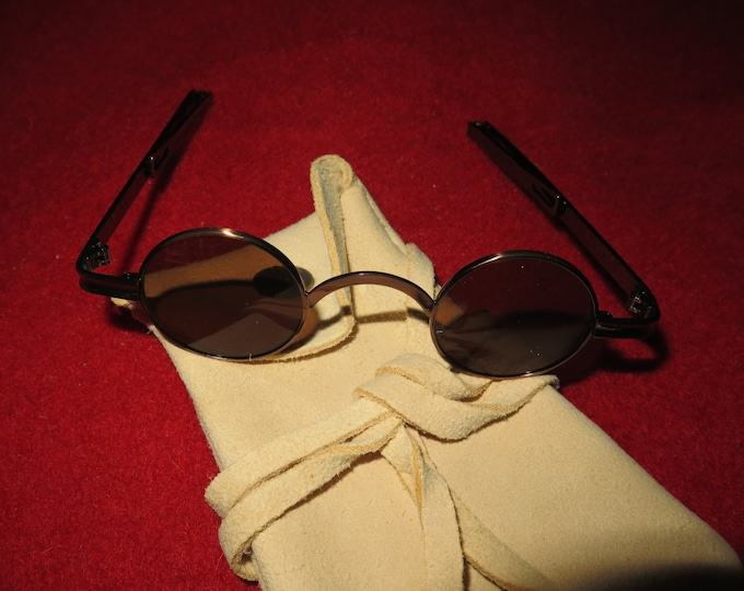 Vintage Sunglasses 18th Century Authentic Spectacles Sun glasses with Round Lens