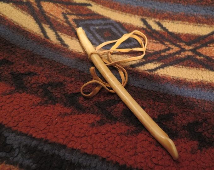 """SALE-Native America Eagle Wing Bone Museum quality 8"""" Replica Eagle Bone Whistle will produce distinct tones"""