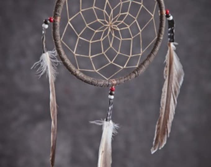 """Native American made 2""""-3"""" -4"""" and 6"""" Dream Catcher Genuine Historically made with materials used close as to original"""