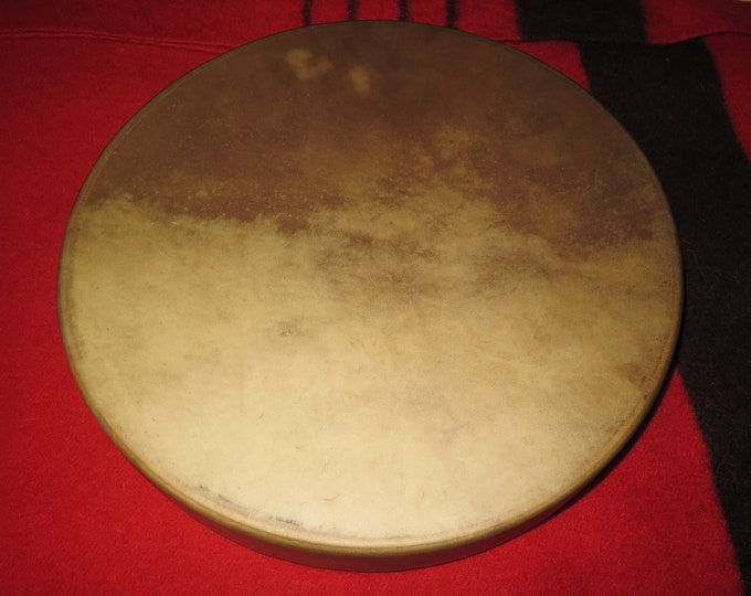 """Native American 18"""" Buffalo or 18"""" Elk Drum with Dream Catcher Laced back of Drum with Cedar Drum Frames Spirit Drum"""
