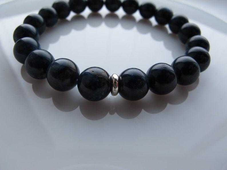 Stretchy Bracelet Blue Stone Healing Crystal Bracelet Healing Gemstone Dumortierite Bracelet AA 8 mm Gemstone Bracelet Beaded Bracelet