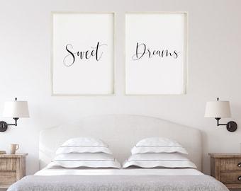 Sweet Dreams Prints   Bedroom Art   Bedroom Prints   Rustic Decor   Sweet  Dreams   Bedroom Wall Art
