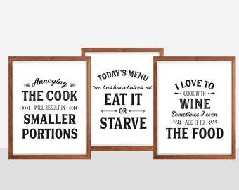 Kitchen quotes | Etsy