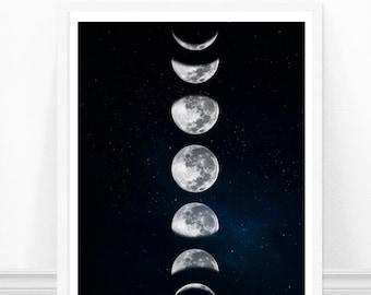 6adfc3906f Moon print   Etsy