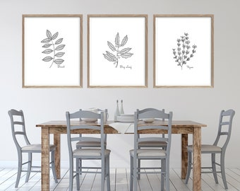 Herb Wall Art Etsy