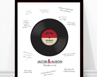 Guestbook Sign - Printable - Wedding Song Print - Wedding Guestbook - Instant Download