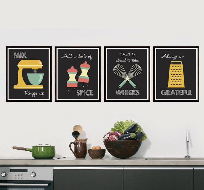 Retro Kitchen Art  Kitchen Utensils  Kitchen Prints  Puns  image 0
