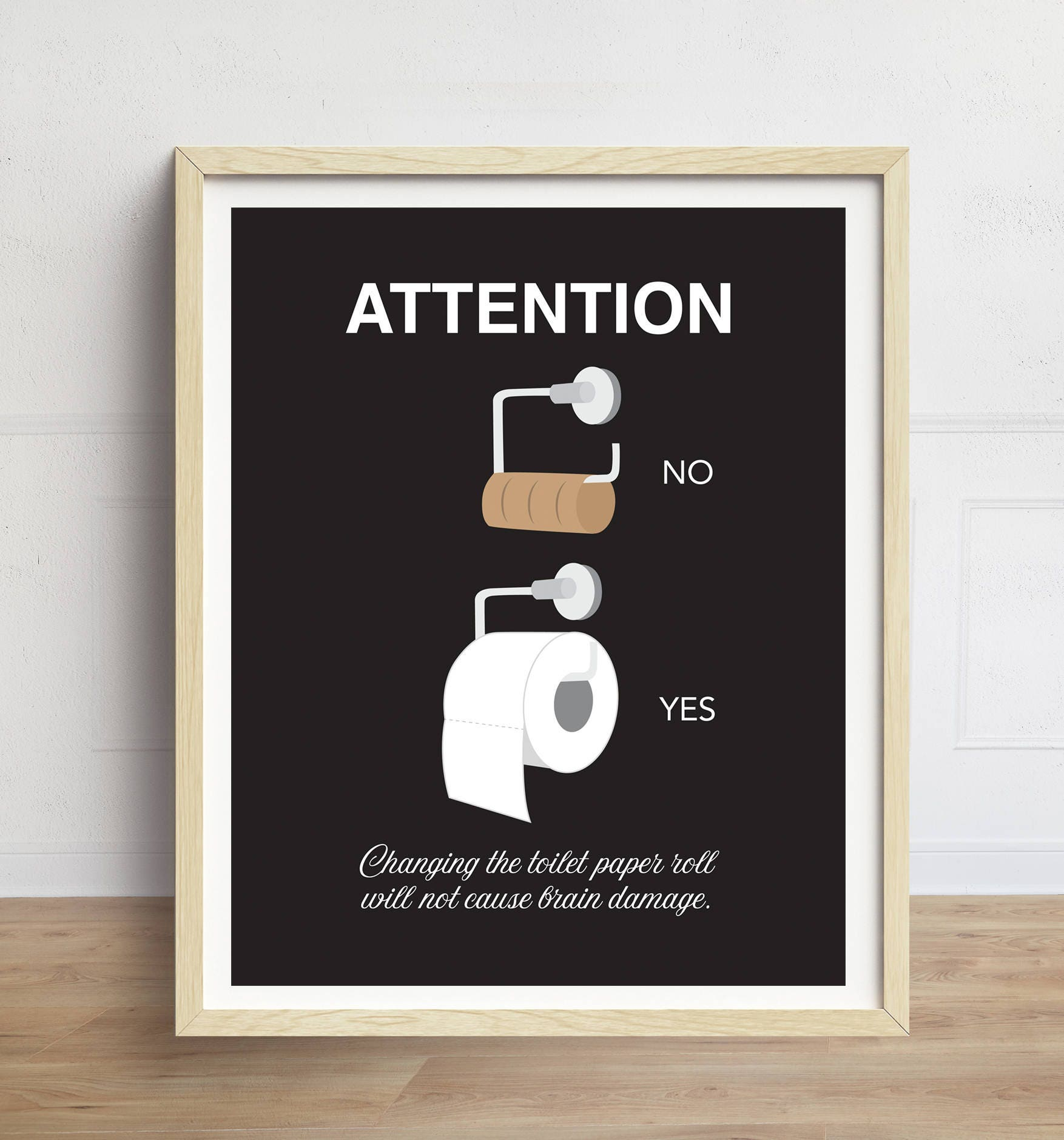 Funny Bathroom Art Toilet Paper Print Bathroom Wall Art Etsy