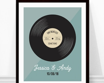 Vinyl Record Print - Personalized Song Print - Wedding Song - Our Song - Anniversary Gift