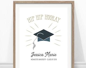 Graduation Print - Personalized Graduation Gift - Wall Art - Grad Gift