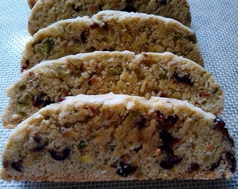 A Pound and A Half of Homemade Cranberry Pistachio Biscotti