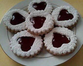 A Dozen of Homemade Linzer Cookies