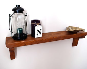 Rustic Wooden Shelf, Rustic Wood Shelf, Rustic Home Decor, Rustic Shelf, Rustic Modern Shelf, Wood Accent Shelf, Wood Shelf