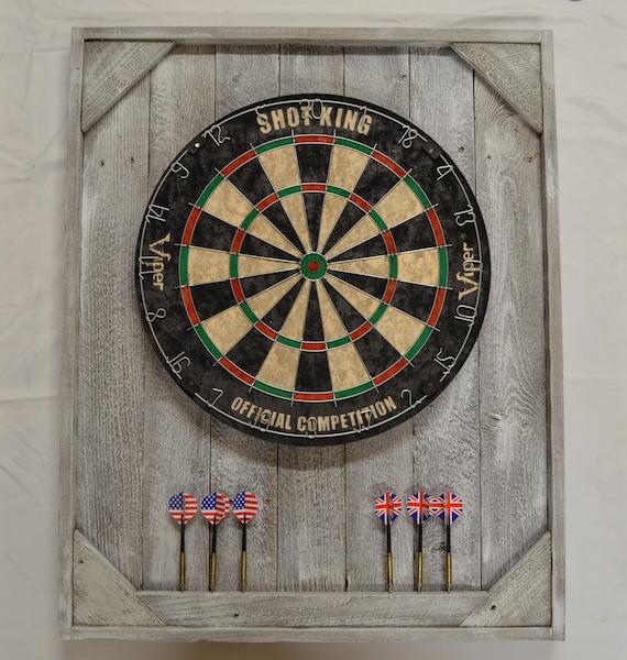 White Washed Dart Board Backboard Cabinet Case Barn Wood | Etsy