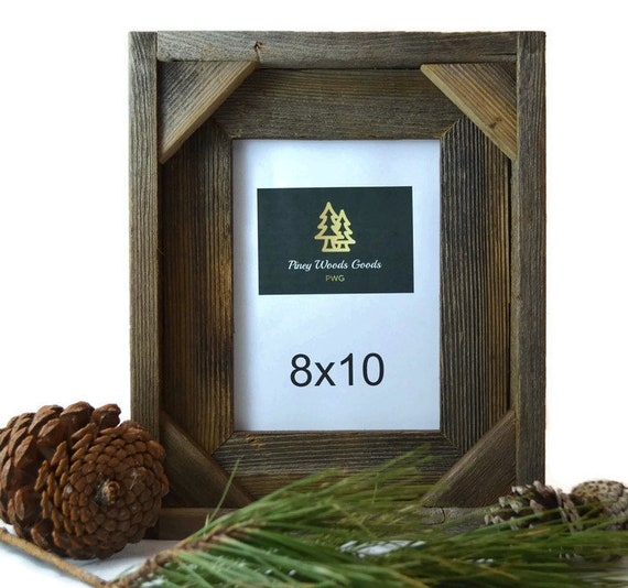 Shadow Box Style Barnwood Picture Frame / Barn wood frame /