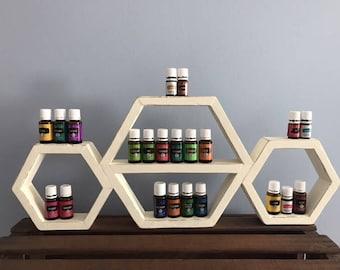 Triple Hexagon Essential Oils Shelf