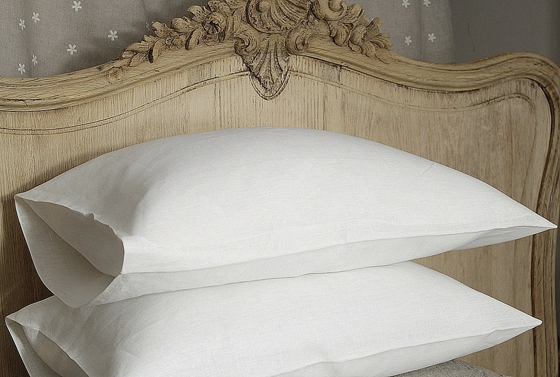 Pure linen pillow case   linen bedding  16x24 20x24 image 0