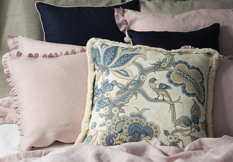 3 pcs Set of exquisite decorative Linen pillows  Brunschwig & image 0