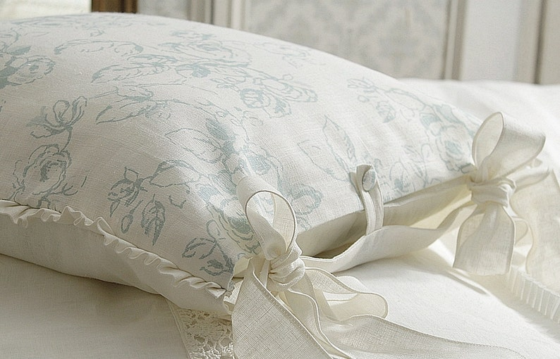 Luxury French Country pillow case 'Delphine'  Shabby image 0