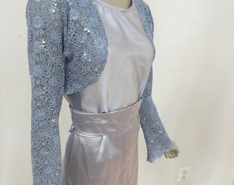Gold Metallic Fabric Bolero Jacket Size Small Prom Evening Latest Technology Coats, Jackets & Vests