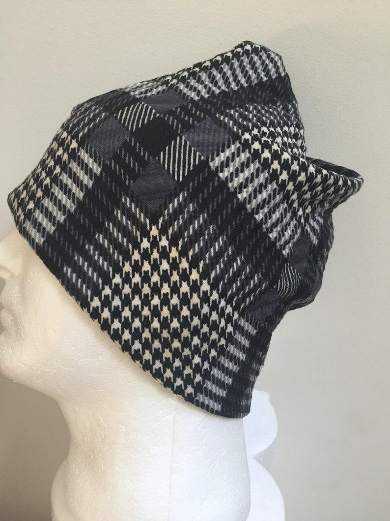 2b6c6493 Gentleman's Gray Houndstooth Slouchy Hat. Men's Grey | Etsy