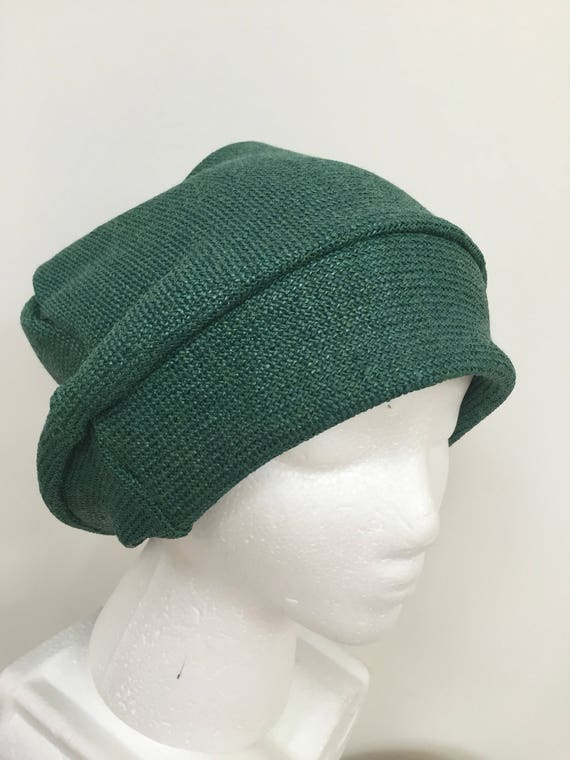 7dea57a4 Christmas Green Slouchy Hat. Women's Green Beanie Hats. Holiday Gifts.