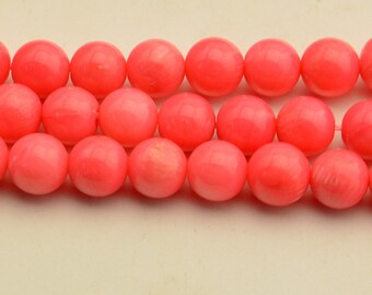 "15""  Pink Coral Beads Gemstone Round Beads 8mm 4mm"