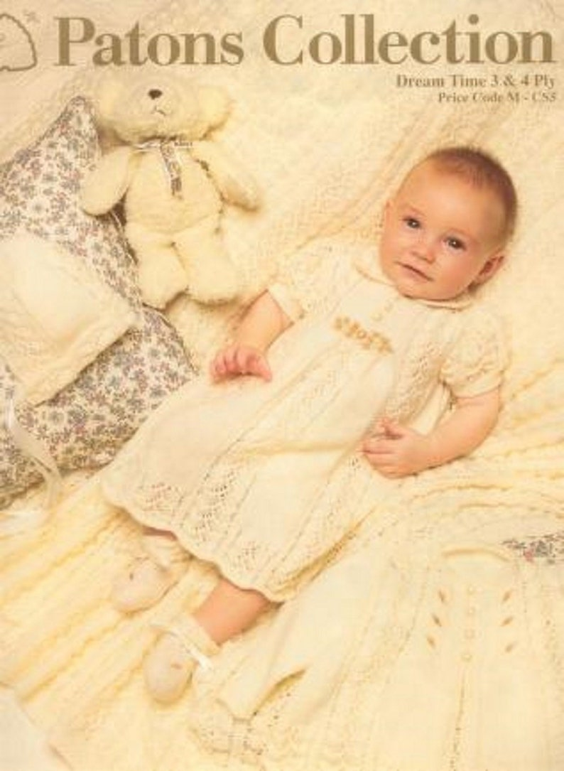 Patons Knitting Patterns Layettes Heirloom Etsy