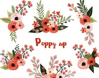 floral clipart etsy rh etsy com floral clipart transparent flower clipart