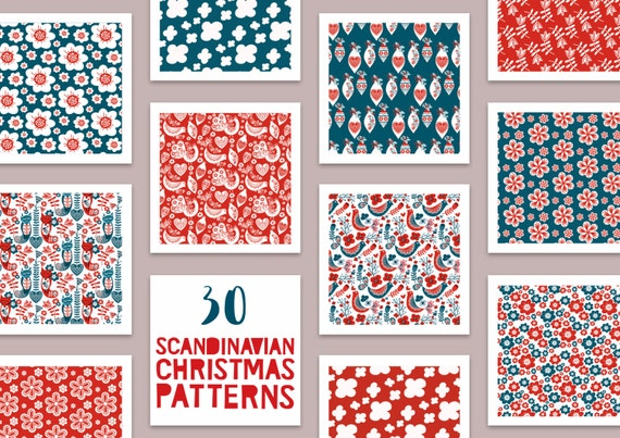 40% OFF 40 Scandinavian Christmas Patterns Christmas Etsy New Christmas Patterns