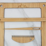 Medium Frame Loom - Bamboo Lap Loom - Includes Needle, Comb and Pick-up Stick
