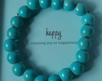 Turquoise bracelet.  Semi-precious