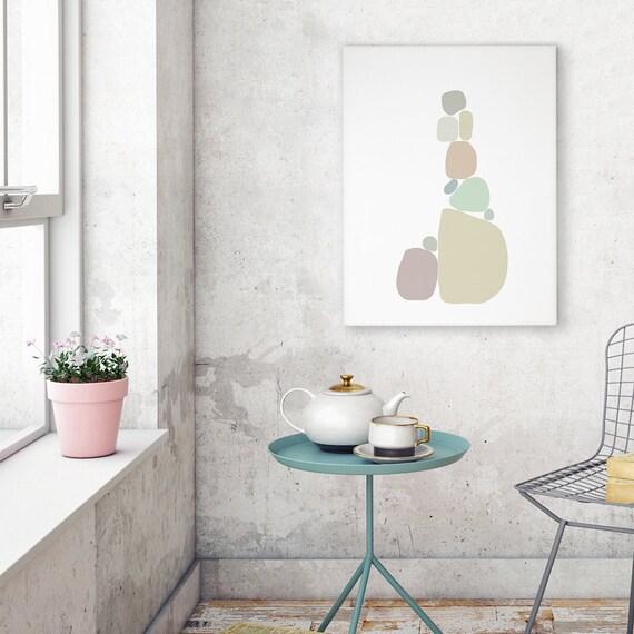 chambre bébé idée déco, digital illustration, printable file, pastel  colors, scandinavian style, minimal design print