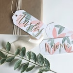 Floral Watercolor Gift Tag