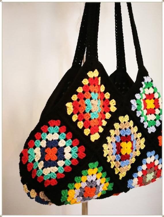 grand à Bag sac Style Retro sac Etsy au main Square mère Crochet Rq5fw4R