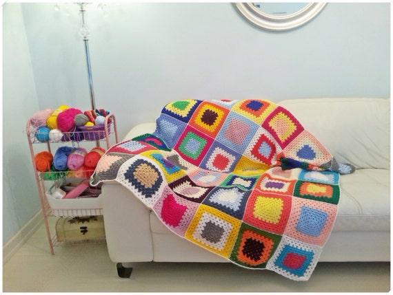 Gehäkelte Decke Afghan Werfen Geschenk Für Sie Geschenk Etsy