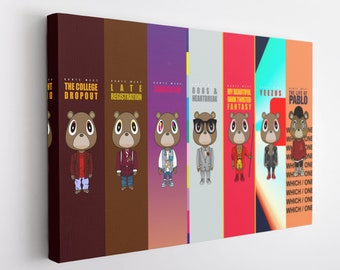 EB802 Kanye Rap Hip Hop Art Music Musician Poster and Canvas